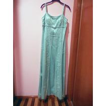 Vestido De Fiesta Carlo Giovanni Color Turquesa Con Pedrería
