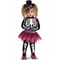 Disfraz Tutu Halloween Esqueleto Catrina Dia De Muertos Niña