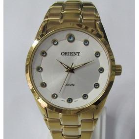 Relógio Orient Feminino Folhado A Ouro Novo Fgss0074