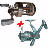 Reel Rotativo Banax Sounion 304+reel Frontal Bando Fuego 30