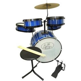Bateria Rock Baby Am 2 Tons Em Madeira Azul - Somos Loja