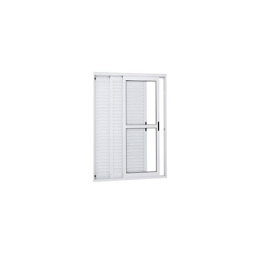 Porta Balcão 3..f De  Alum 2.10 X 1.20 Branca L-25 Promoção