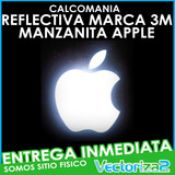 Calcomania Manzanita Manzana Apple Mac Reflectiva Marca 3m