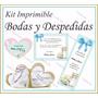 Kit Imprimible Bodas Y Despedida De Soltera Souvenirs