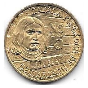 Moneda Uruguay 5 Pesos Año 1976 Zabala Sin Circular