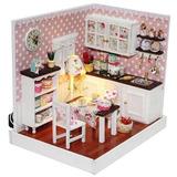 Casa De Munecas Miniatura Diy Kit Cubierta Deliciosa Coc X01
