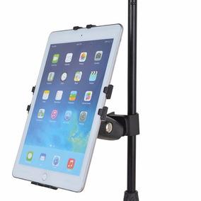 Suporte Reforçado P/ Tablet Ipad Em Pedestal De Microfone-al