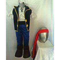 Disfraz Estilo Jake Los Piratas Incluye Espada
