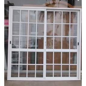 Puerta Ventana Balcon Aluminio Blanco 200x200 Cm V/repartido