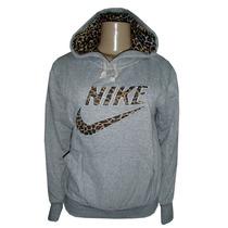 Blusa Nike Feminina Oncinha Moletom Casaco Jaqueta Cinza