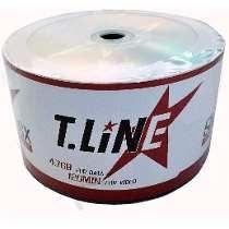 100 Midia Dvd-r Virgem T-line C/logo /16x Ritek Vietam 4.7gb