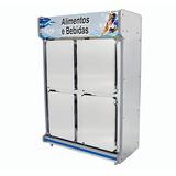 Refrigerador Comercial Com 4 Portas De Inox 1,30m Polo Frio