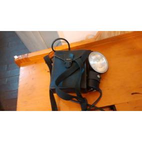 Flash Bf4p3 Antigo Darta Com Bateria E Bolsa Couro P Cameras