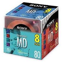 Mini Disc Sony Md-80 Original Caixa Lacrada Com 08 Unidades