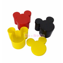 40 Caixinhas Acrílica Mickey Ou Minnie 7x7x4cm Lançamento