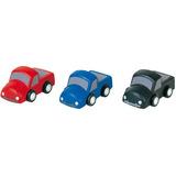 Plan Toys Juego De 3 Mini Camiones De Madera