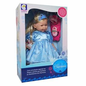 Boneca Princesa Charmosa Frozen - C/ Articulações- Cotiplás