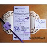 Invitaciones Vintage De Boda Y 15 Años (12 Unids)
