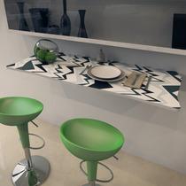 Mesa Dobrável Suspensa Para Cozinha Em Mdf 90 Cm Bambu