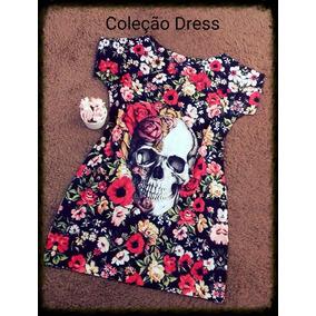 Lindo Vestido (dress) Tshirt Caveira Pronta Entrega