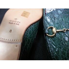 Zapatos Gucci Italianos De Piel De Caiman Autentico