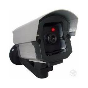 Micro Câmera Falsa Com Led P Segurança Residencial