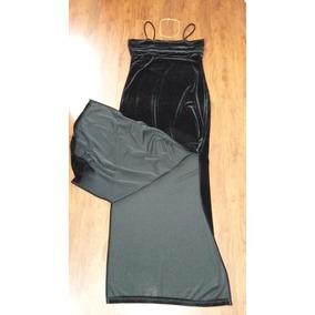 Vestido De Gala Negro De Terciopelo Talla M Como Nuevo