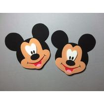 Apliques Em Eva - Cabecinha Do Mickey Kit Com 20 Unidades