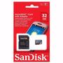 Memoria Micro Sd Sandisk 32gb Clase 4 C/ Adaptador Data C