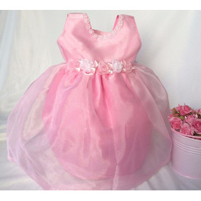 Vestido Bebe Festa Rosa Princesa Peppa Pig