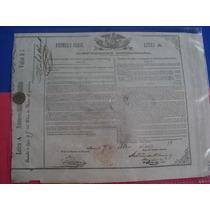 Bono Del Tesoro Nacional, Águila Juarista , 1863, 5 Pesos.