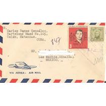 L602-cuba Carta Circulada Registrada De Cuba-mochis-año 1964
