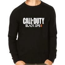 Blusa Moleton Call Of Duty Black Ops 2 Preto
