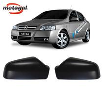 Par Capa Preta Retrovisor Astra Hatch Sedan 1999 Até 2012