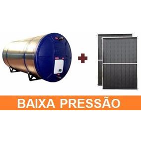 Kit Aquecedor Solar Com Boiler 200 Litros Com 3 Placas 1x1