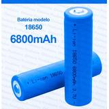 Bateria Recarregável 18650 6800mah 3.7v Lanterna Tática Swat