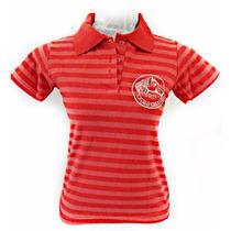 Polo Baby Look Camiseta Feminina Bordada Cavalo Crioulo