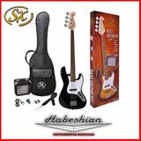 Pack Bajo Sx Jazz Bass+amplif+funda+afinador+cable- Palermo