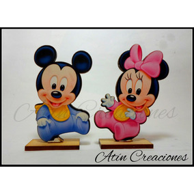 30 Souvenirs + Central Minnie Y Mickey Bebe Disney Baby