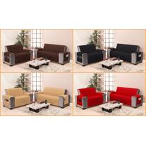Kit Protetor Sofa (2 E 3 Lugares) Marron Tamanho Especial