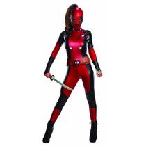 Deadpool Disfraz Mujer Damas Adulto Traje Fiesta Halloween