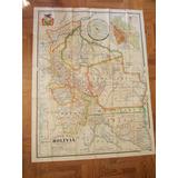 3122- Antiguo Mapa Bolivia, Medida 124cm X 93cm, Ver Foto