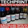 Botella Tinta Fotografica Uv Ultravioleta Profesional 600 Ml