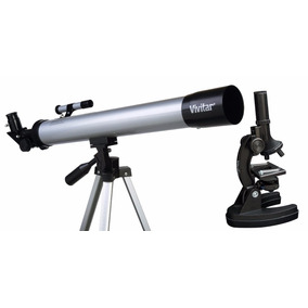 Telescopio Con Base Y Microscopio Con Accesorios