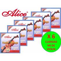X 6 Cuerdas (mi) 1era Para Violin Alice A703 Nuevas