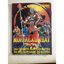 Álbum De Figurinhas Antigo Mortal Kombat Completo Panini