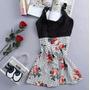 Vestido Lindo Detalhes Floridos Para Balada Festas Eventos