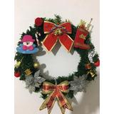 Guirlanda Enfeite Porta Natal Decorada 45 Cm Linda!!