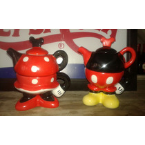 Tea For One Mickey Minnie. Tetera Con Taza Mickey