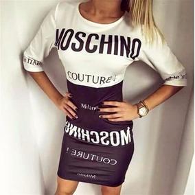 Vestido Importado Moschino 100 % Poliester
